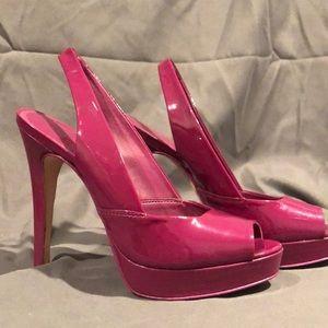 Patent Slingback Heels